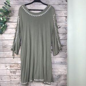 POL | olive long sleeve tunic size medium
